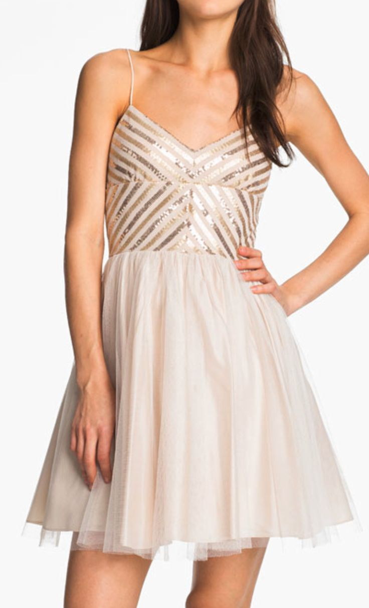 Sequin + tulle dress