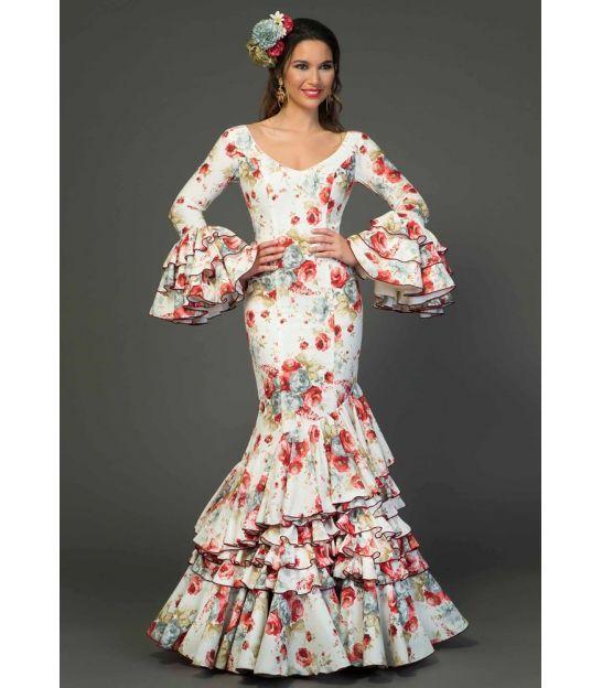 8f631115eb trajes de flamenca 2018 mujer - Aires de Feria - Vestido de sevillanas  Estrella estampado