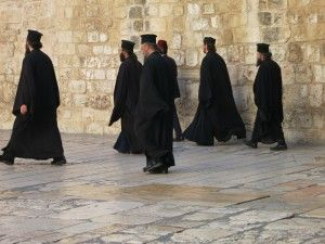 spotted outside the Church of the Holy Sepulchre in Jerusalem