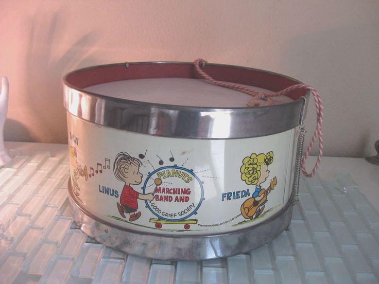 """""""Peanuts""""  Toy Drum by Chein 1963 #Chein"""