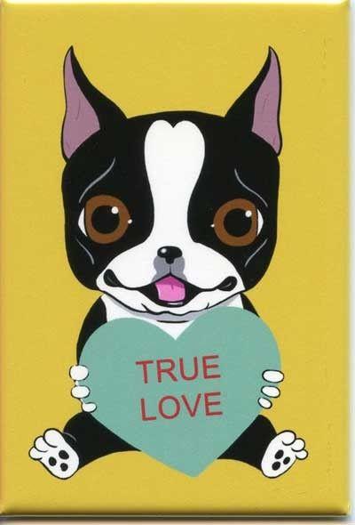 Boston Terrier chien Art amour aimant