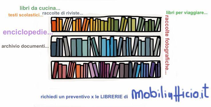 richiedi un preventivo per le #librerie, i #contenitori per #archivio, le #scaffalature, gli #armadi in #metallo, gli armadi in #legno di mobiliufficio.it