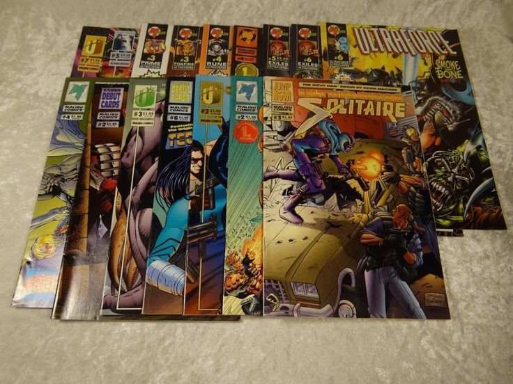Lot of 15  Malibu Comics Mantra 2 Solitaire 3 Exiles Ultraforce Wrath AND MORE!