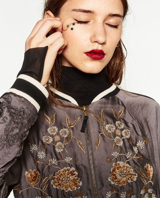 Image 2 of SPECIAL EDITION EMBROIDERED BOMBER JACKET from Zara