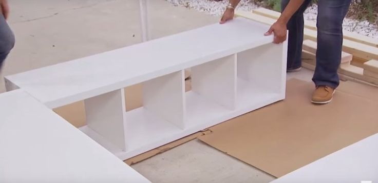 With a just a few basic shelving units and 2x4s you can build your very own platform bed and avo...