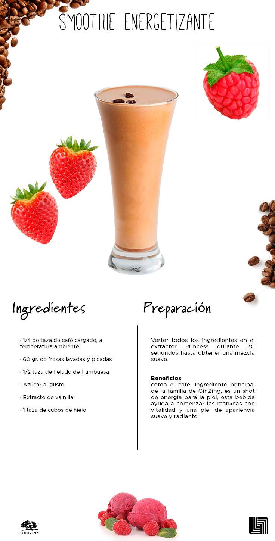 Sorpréndete con el rico sabor de este smoothie y conoce los beneficios que los granos de café aportan a tu piel.