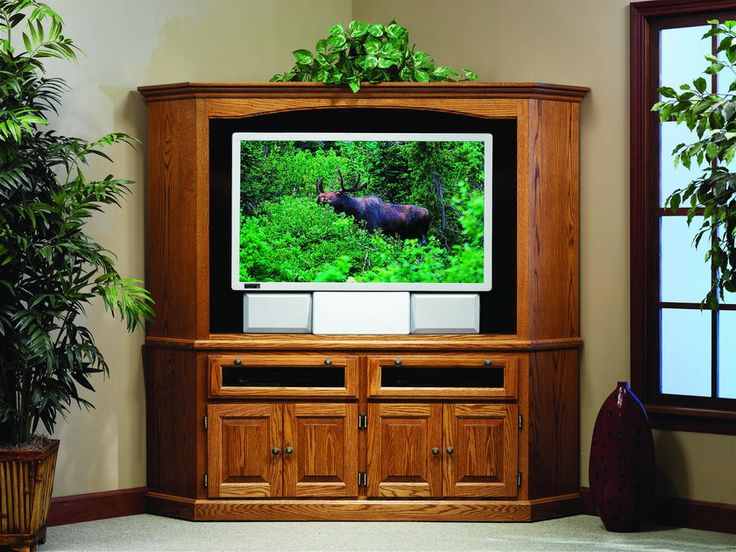 50 Inch Entertainment Center Part - 39: Amish Traditional Corner Entertainment Center