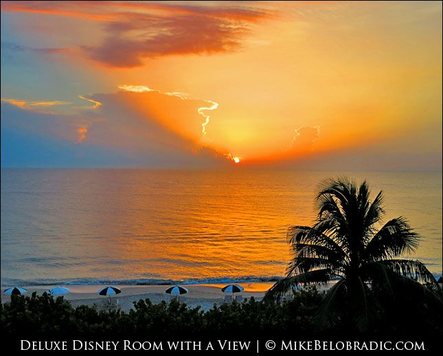 Sunrise from room 2322 at Disney's Vero Beach Resort. Contact me to learn more about staying at this luxury Disney beach resort. #LuxuryDisney #VeroBeach #Florida #Sunrise #TreasureCoast http://mikebelobradic.com/view-room-2322-disneys-vero-beach-resort-florida/