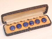 Vintage Edwardian Lapiz Lazuli Gents Dress Studs