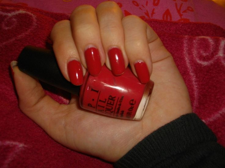 opi rode nagellak swatch paint my mojitoes red