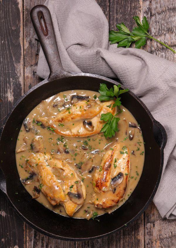 Φιλέτο από στήθος κοτόπουλου με μανιτάρια και μουστάρδα | olivemagazine.gr…