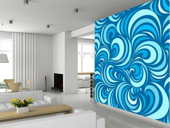 Waves Custom wall murals, Tree wallpaper mural, Waves
