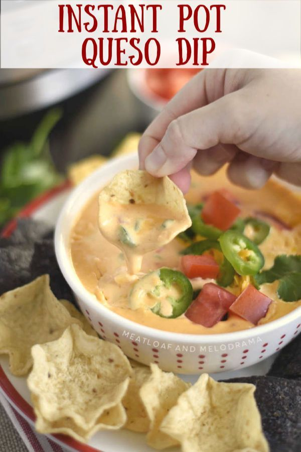 Instant Pot Queso Dip Meatloaf And Melodrama Recipe Queso Dip Recipes Queso Dip Instant Pot Recipes