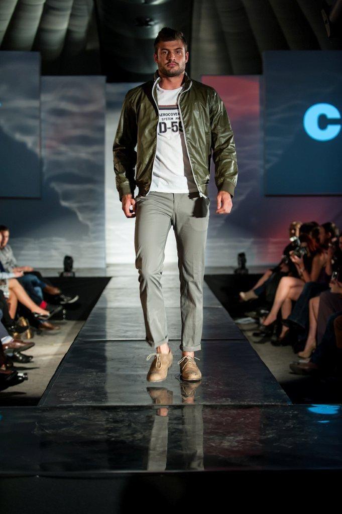 Sean Tucker in the Men's Health Fashion Show