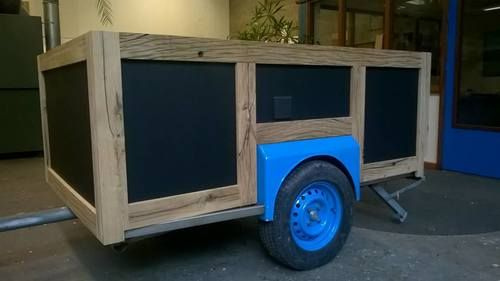 Foodtruck - old oak/birch plywood Foodtruck - oud eiken/berken multiplex