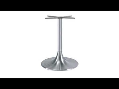 trumpet pedestal table base youtube - Pedestal Table Base