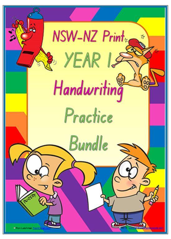 Year 1   Handwriting   Practice   BUNDLE   NSW-NZ Print