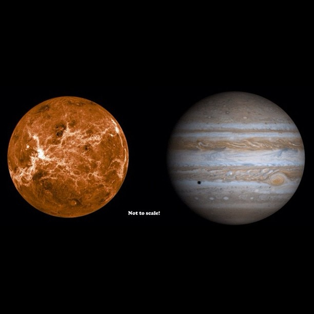 how big is venus compared to other planets - photo #18