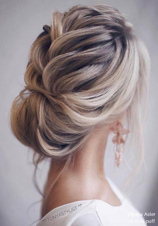Peinados recogidos elegantes para cabello largo