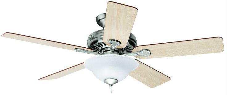 Traditional - Vista Ceiling Fan - Hunter Vista Fan In Brushed Nickel - 24041 - Hunter Ceiling Fan|Conservatory Ceiling Fan|Fan Remote|Fan Li...