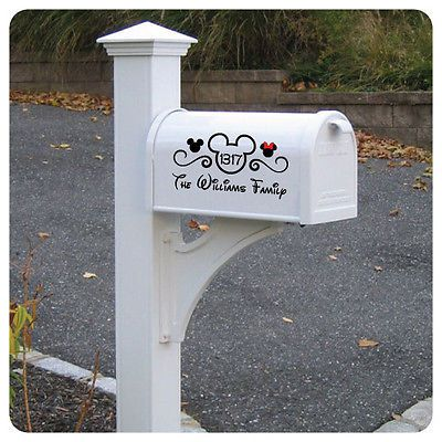 """Disney """"Mickey Mouse"""" Vinyl Mailbox Lettering Decoration Decal Sticker"""