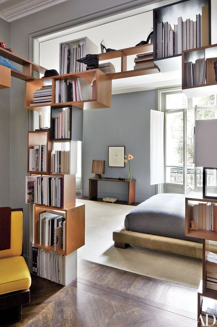 Clever Bookshelves Serve As Room Divider