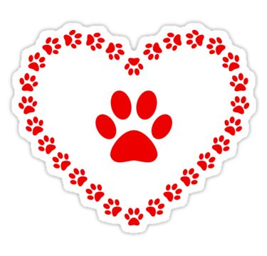 """""""Paws - heart"""" Stickers by Stock Image Folio 