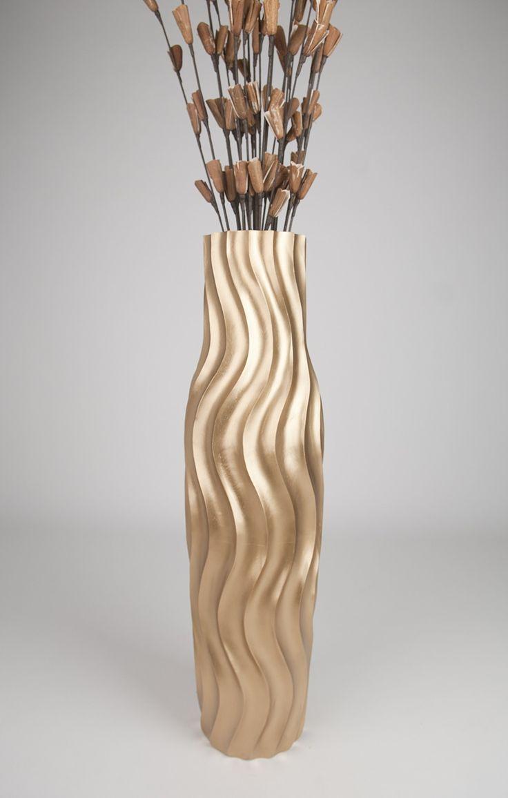 Large Tall Decorative Floor Vase | Decorative Tall Floor Vase   Wood    Height 36 Inch