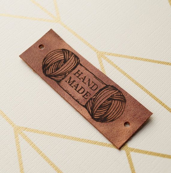 Knitting labels custom clothing leather by LeatherGoodsCompany