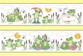 Frog Wallpaper Border Decal Woodland Forest Animal Pond Nursery Wall Art Sticker #decampstudios