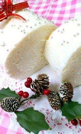 ☆クリスマスケーキに白いロールケーキ☆ by ☆コナ寿☆ [クックパッド] 簡単おいしいみんなのレシピが248万品