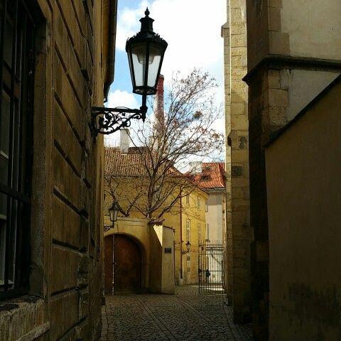 Prague alley.