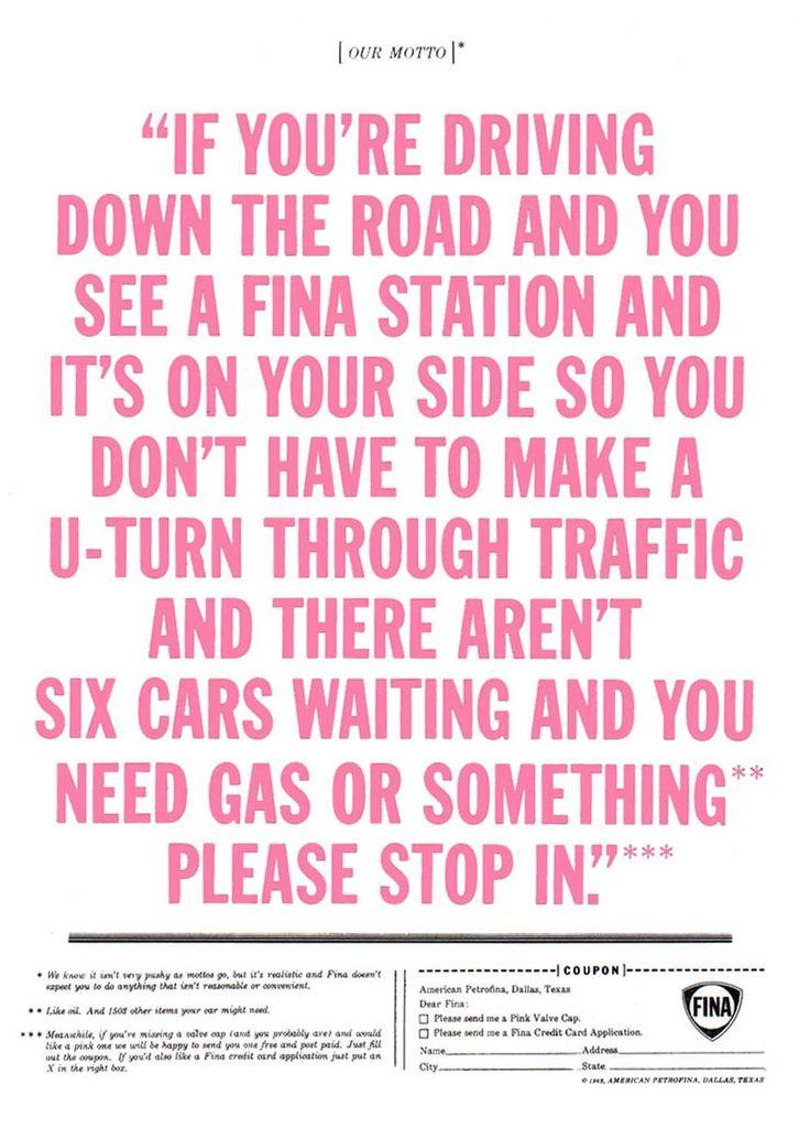 Howard Gossage - Fina 'Driving'