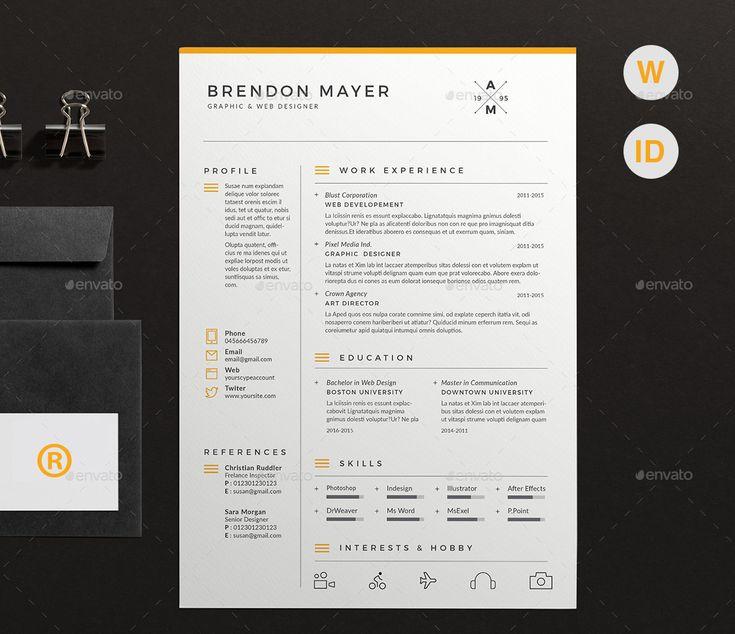 29 best Profile Design images on Pinterest Resume cv, Cv design - best resume words