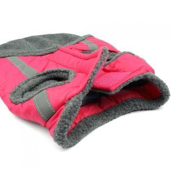 Hundejacke - Twister - schwarz, pink