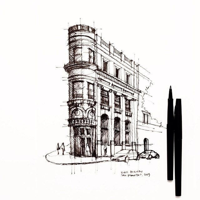 San Francisco's old Transamerica Building. #sketch #architecture #drawing | Flickr - Photo Sharing!