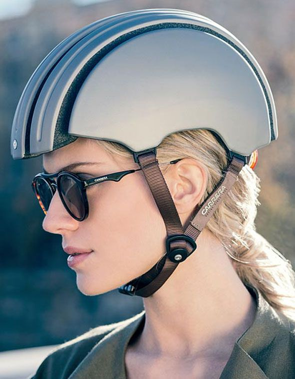 Stylish foldable helmet and sunglasses for her