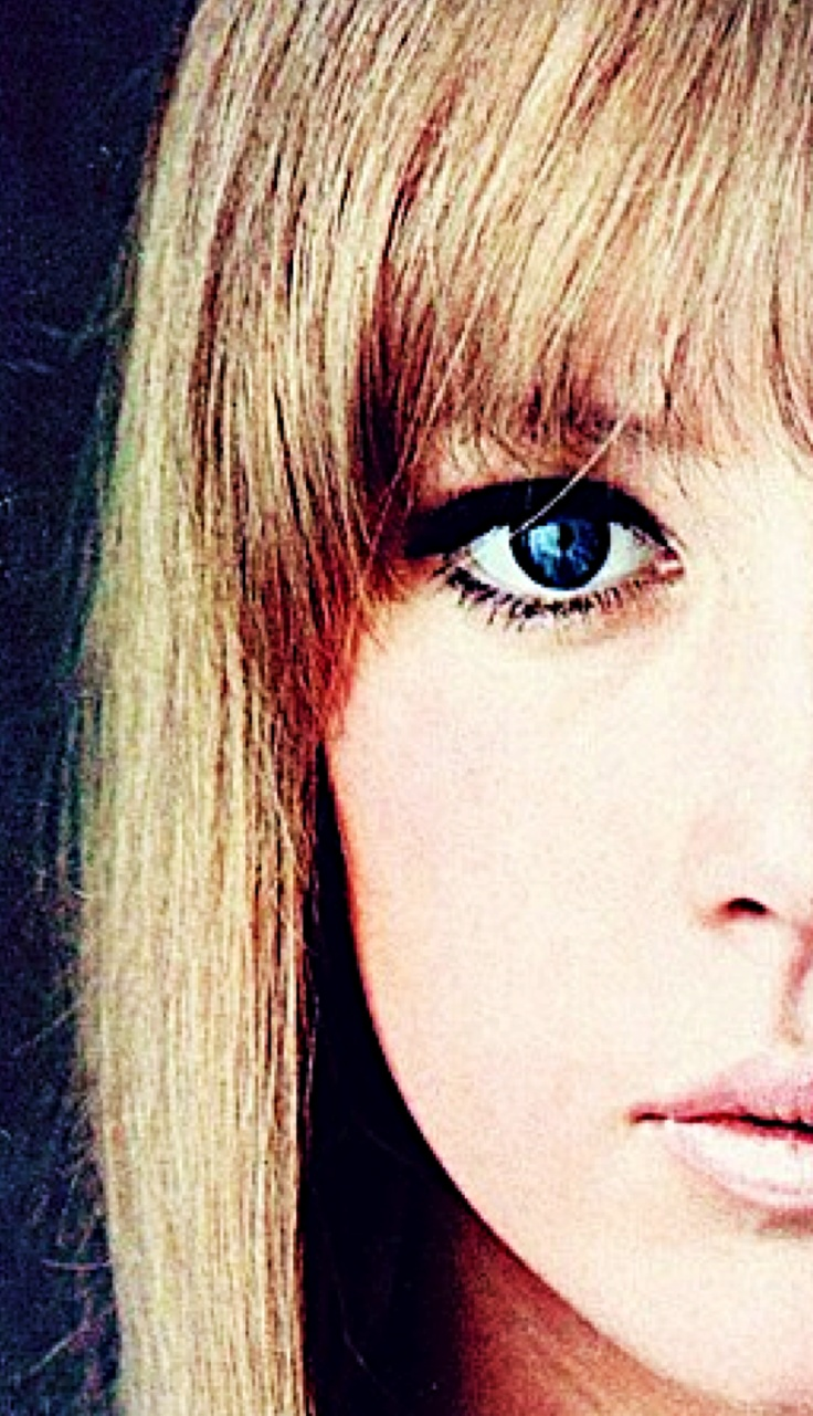 """Pattie Boyd.  My youthful obsession, Pattie Boyd, probably began when my sister took me to the Grand theatre in Paris, Texas.  I suppose I fell in love that day, like most American girls, with the Beatles.  My sis said, """"That's Pattie Boyd.""""  What a beauty.  Very well matched to George Harrison.  No apology needed to what's his name."""