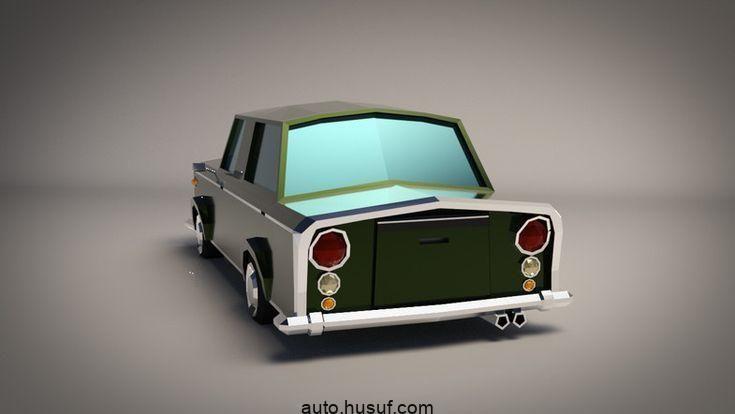 Low-Poly Cartoon Limousine Auto # Limousine # Cartoon # Poly # Land