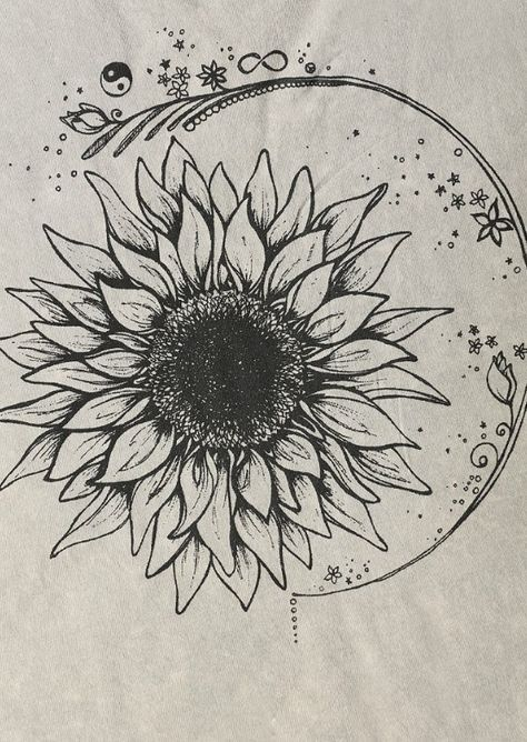 Henna Sunflower Drawings Gardening Flower And Vegetables