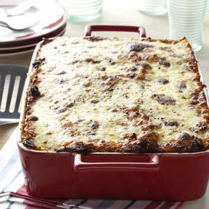 Beef Lasagne Recipe from Taste of Home -- shared by Kim Orr of West Grove, Pennsylvania