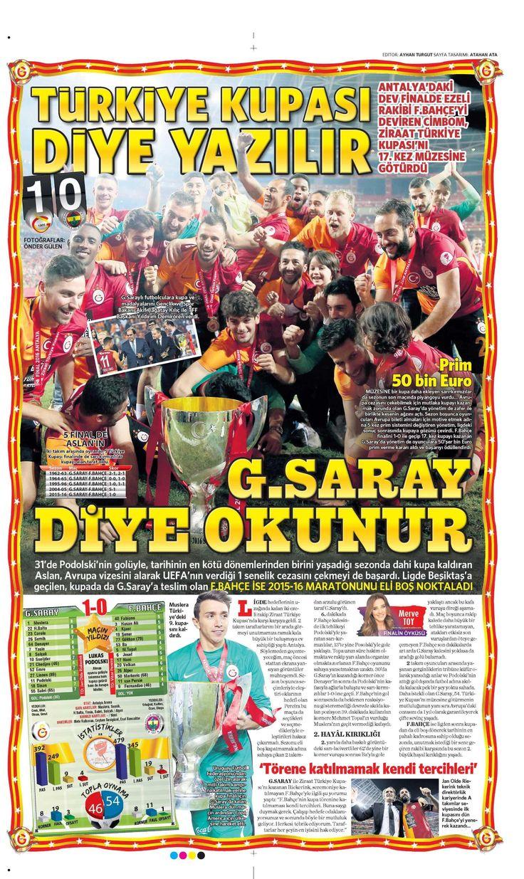 Sporun Manşetleri (27 Mayıs 2016) - NTVSpor.net