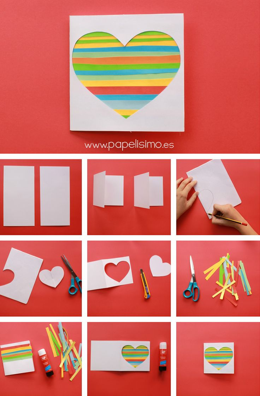Tarjeta de corazón (muy fácil) | http://papelisimo.es/tarjeta-de-corazon-muy-facil/