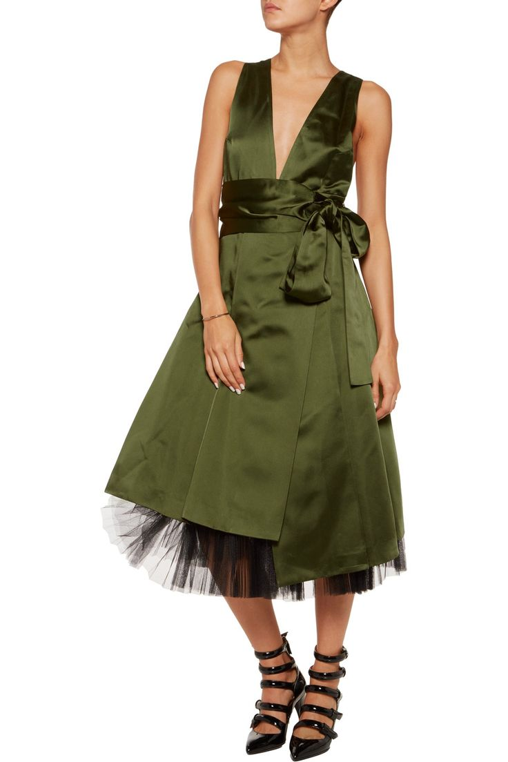 Marc by Marc Jacobs Satin and tulle dress