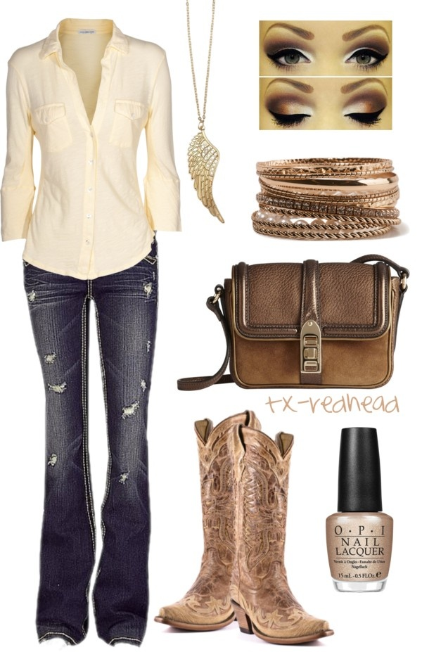 """Country Girl"" by tx-redhead on Polyvore"