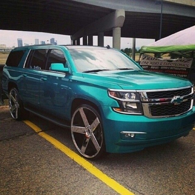 "2015 Chevy Suburban On 30"" Dub Baller Wheels - Rides Magazine"