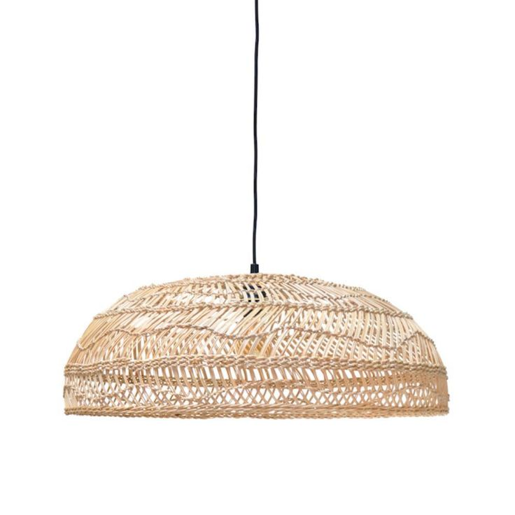Wicker Hanging Lamp - Medium