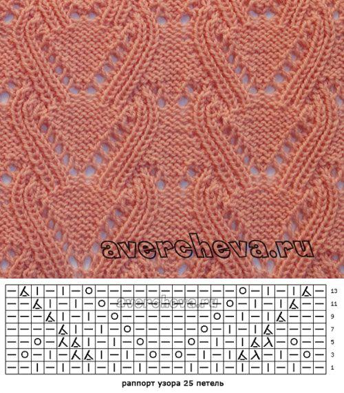 узор спицами 573| каталог вязаных спицами узоров