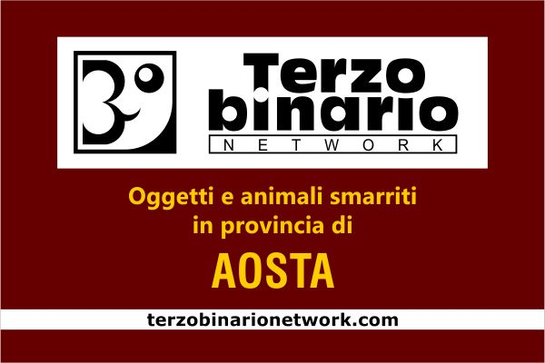 Oggetti e animali smarriti in provincia di Aosta