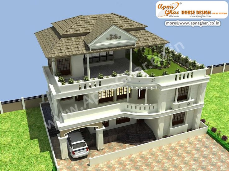 4 bedroom, modern triplex (3 floor) house design. Area ...